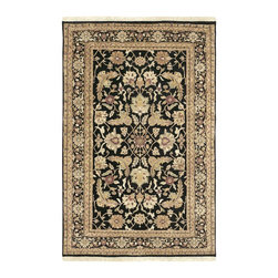 """Surya - Traditional Taj Mahal Sample 1'6""""x1'6"""" Sample Black-Light Gold  Area Rug - The Taj Mahal area rug Collection offers an affordable assortment of Traditional stylings. Taj Mahal features a blend of natural Black-Light Gold  color. Hand Knotted of 100% Semi-Worsted New Zealand Wool the Taj Mahal Collection is an intriguing compliment to any decor."""