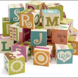 MoMA Store - Girard Alphabet Blocks - These are blocks mommy won't mind seeing on the floor. Featuring Alexander Girard's font and designs, these cheerful blocks are a set to keep for life.