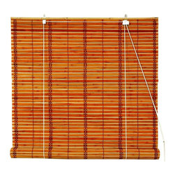 Oriental Unlimited - Versatile Burnt Bamboo Roll Up Blinds in Light Brown (36 in. Wide) - Size: 36 in. Wide. The island inspired look of our burnt bamboo blinds will bring an island inspired spirit to any decor. Finished in light brown in your choice of sizes, the blinds are ideal for sun rooms, patios, living rooms or dining spaces, and will be an earth friendly window treatment choice. Burnt bamboo roll up blinds are a versatile addition to any window. They will fit in with any decor. Easy to hang and operate. 24 in. W x 72 in. H. 36 in. W x 72 in. H. 48 in. W x 72 in. H. 60 in. W x 72 in. H. 72 in. W x 72 in. H