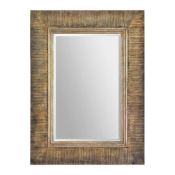 """Ren Wil - Ren Wil MT1432 Gotland 34"""" Rectangle Beveled Wall Mounted Mirror - Features:"""