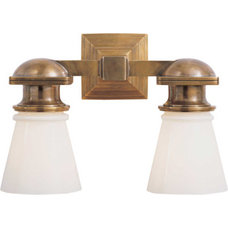 wall lights > NEW YORK SUBWAY DOUBLE LIGHT WALL SCONCE