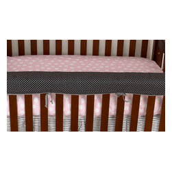 Cotton Tale Designs - Poppy Front Cover Up - A quality baby bedding set is essential in making your nursery warm and inviting. All Cotton Tale patterns are made using quality materials and are uniquely designed to create your perfect nursery. The Poppy front cover up is both function and design. What a great idea, this front rail cover up protects your foot board on the convertible cribs and it looks great. For the parent choosing not to use a bumper, it can add the needed decor lost when the bumper is removed. Cover ups can be used with a full bumper as well. All Cotton Tale and N. Selby patterns have matching crib rails cover ups. Wash gentle cycle, separate, cold water. Tumble dry low or hang dry.. This collection is perfect for your little sophisticated girl.