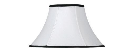 Cal Lighting - Cal Lighting SH-1199 Bell Stretched Fabric W/Black Trim - Bell Stretched Fabric W/Black Trim
