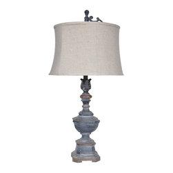 "Crestview - Crestview CVAUP864 Weather Vane Table Lamp 34""Ht. - Weather Vane Table Lamp 34""Ht.   34""Ht., 15 x 17 x 11 Cream Linen Shade"