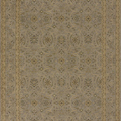 """Loloi - Loloi Stanley ST-19 (Steel, Steel) 2'6"""" x 7'9"""" Rug - These Magnificent rugs are modern interpretations of the most sophisticated hand knotted designs. Recreated with power loomed technology these gorgeous area rugs offer an affordable alternative. Two time award winning collection. The fine poly threads are blended together to give the 8 color krill a wider variety of colors. The special abrashing technique captures the look of a hand knotted rug."""