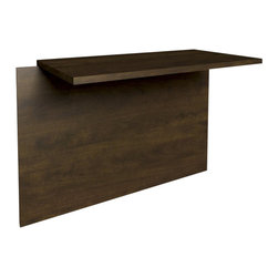 Bestar - Bestar Prestige + Bridge in Chocolate - Bestar - U-Bridges - 998201169 - The Bestar Prestige + Bridge in Chocolate Finish joins Executive Desk to Credenza. As well the Prestige Bridge accepts Keyboard Shelf.