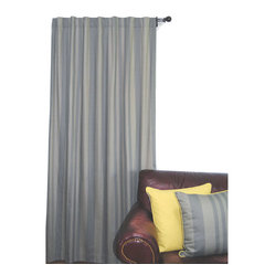 ez living home - EZ Living Home Tonal Stripe Window Panel 84L Grey - *New classic tonal stripe pattern creates a chic but soothing effect; Complements existing room decoration.