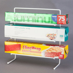 Grayline - Counter Wrap Rack - Keep your plastic wrap and foil organized and free up counter space with this handy vertical rack.   9.75'' W x 10.38'' H x 4'' D Steel Imported