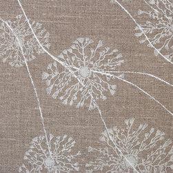 Anacapa Flax Fabric - Screen printed, dye printed in Switzerland on 100% Belgian linen ground. Passes 18,000 rubs Martindale.