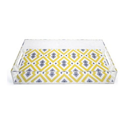 Jonathan Adler Large Acrylic Tray - Trays are a decorator's best friend when it comes to organizing stuff. Place one of our trays on your dresser or coffee table, put your stray stuff in it, and suddenly, everything looks neat.