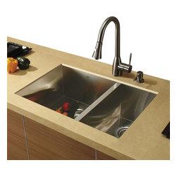 Vigo - Vigo Undermount Stainless Steel Kitchen Sink, Faucet and Dispenser - Vigo delivers top quality and unique design. Every detail is important