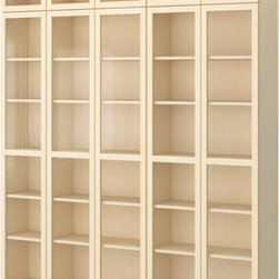 Gillis Lundgren/K Hagberg/M Hagberg/IKEA of Sweden - BILLY Bookcase with glass-door - Bookcase with glass-door, birch veneer