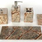 Bathroom set - forest green marble bathroom set