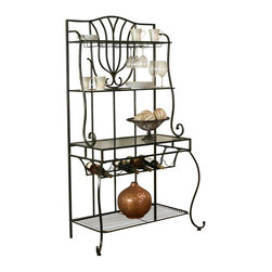 Cramco - Cramco Waverly Golden Ebony Baker's Rack - Features: