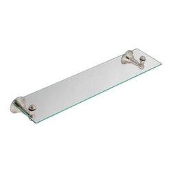 Moen - Moen Sage Glass Shelf, Brushed Nickel (DN6890BN) - Moen DN6890BN Sage Glass Shelf, Brushed Nickel