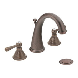 "Moen - Moen T6125ORB Kingsley Two Handle Widespread Bathroom Sink Faucet Trim in Oil Ru - Moen T6125ORB Kingsley Two Handle Widespread Bathroom Sink Faucet Trim in Oil Rubbed BronzeKingsley offers a new way for enthusiasts of traditional style to make their bathrooms stand out. By combining a classic antique look with modern luxury, the Kingsley offers the best of both worlds delivering an inspired aesthetic to your home.Note: Valve Not IncludedMoen T6125ORB Kingsley Two Handle Widespread Bathroom Sink Faucet Trim in Oil Rubbed Bronze, Features:• High-arc spout design provides more clearance• Two lever-style handles• 8-16"" widespread installation• Includes pop-up metal drain assembly• Hydrolock quick connect system• Aerated flow for everyday use• 1/2"" IPS Connections• ADA Compliant• Meets WaterSense criteria to conserve water without sacrificing performance• 1.5 GPM (5.7 l/min) max• Rough-In Valve (9000) Required- Sold SeparatelyRequires: Moen-9000 Moen-9000 M-PACT Widespread Bathroom Sink Rough-In Valve, 1/2"" IPS Connection Moen Limited Lifetime WarrantyView the Entire Moen Kingsley CollectionView All"