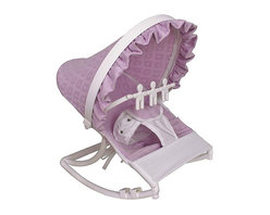 Hoohobbers - Hoohobbers Baby Orchid Rocking Infant Rocker Seat - 271-18 - Shop for Rocking Toys from Hayneedle.com! The Hoohobbers Baby Orchid Rocking Infant Rocker Seat gives your baby girl the perfect place to sit and play while you get work done. Designed to cradle your baby like a mother's arms this rocker has a deep soft sling which surrounds and fully cradles your baby. Your baby will be able to create a smooth gentle and calming rocking motion while moving helping her to calm herself. A removable toy bar with spinning characters will help to keep her entertained as she sits in the rocker. Its smooth solid frame locks to help keep your baby safe while the stabilizing feet prevents tipping. Its protective hood helps to block light and drafts to keep your baby comfortable. Its water safe machine washable fabric is easy to clean so you don't have to worry about accidents and spills. Simply fold this rocker up when you're on the go and bring it with you wherever you're traveling. Additional Features Baby calms self with gentle rocking motion 4 lbs rocker folds for easy transportation Removable toy bar with spinning toys Solid smooth frame which locks Stabilizing feet helps keep baby safe Protective hood helps block light and drafts About HoohobbersBased in Chicago Hoohobbers has designed and manufactured its own line of products since 1981 beginning with the now-classic junior director's chair. Hoohobbers makes both hard goods (furniture) and soft goods. Hoohobbers' hard goods are not your typical furniture products; they fold are lightweight and portable and are made to be carried by children all around the house. Even outdoors Hoohobbers' hard goods are 100 percent water-safe. At the same time they are plenty durable and can take the abuse children often give. Hoohobbers' soft goods are fabric items ranging from bibs to bedding from art smocks to Moses baskets. Hoohobbers' products are recognized by independent third parties for their quality and performance. Ho