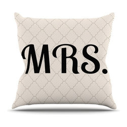 "Kess InHouse - KESS Original ""MRS"" Throw Pillow (16"" x 16"") - Rest among the art you love. Transform your hang out room into a hip gallery, that's also comfortable. With this pillow you can create an environment that reflects your unique style. It's amazing what a throw pillow can do to complete a room. (Kess InHouse is not responsible for pillow fighting that may occur as the result of creative stimulation)."