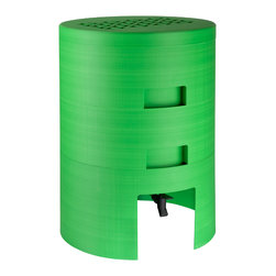 Mini VermiComposter - This composter is made from 100% post-consumer recycled polyester. Its sleek design can fit kitchens, patios, garages, and basements.