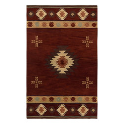 Rizzy Rugs - Southwestern/Lodge Southwest 8'x10' Rectangle Red Area Rug - The Southwest area rug Collection offers an affordable assortment of Southwestern/Lodge stylings. Southwest features a blend of natural Red color. Hand Tufted of 100% Wool the Southwest Collection is an intriguing compliment to any decor.