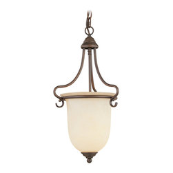 Livex Lighting - Livex Lighting 6116-58 Hall/Foyer - Glass Type/Shade Type: Vintage Scavo Glass