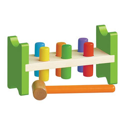 The Original Toy Company - The Original Toy Company Pound-a-Peg - Pound- A - Peg - This Classic Toy will provide hours of stimulus play. Hammer colorful wooden pegs until they push through the other side. The pegs fit firm within the bench they can't fall out but can be removed if desired. Weight: 3 lbs.