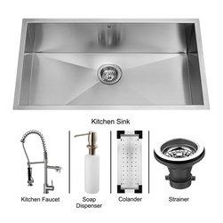 Vigo - Vigo Undermount Stainless Steel Kitchen Sink, Faucet, Colander, Strainer and Di - Vigo keeps your needs in mind when it comes to kitchen essentials.