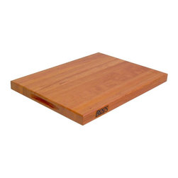 John Boos - 20 in. Reversible Cutting Board in Cherry Fin - Includes hand grips. 1.5 in. Thick reversible cutting board. Cherry finish