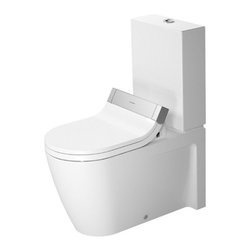 Duravit - Duravit | Starck 2 Close-Coupled Toilet For Use With Sensowash C - Design by Philippe Starck.Made in Germany by Duravit.A part of the Starck 2 Collection. This Starck 2 Close-Coupled Toilet is specifically made for function with the Sensowash C Shower Toilet Seat. This durable toilet in addition to the high-tech bidet toilet seat are a luxurious and hygienic addition to any bathroom. The comfortable yet compact construction helps to save space in bathrooms while the dual-flush mechanism help to save limited resources. Product Features: