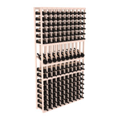 10-Column Display Row Wine Cellar Kit in Pine
