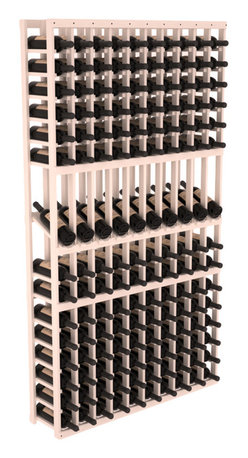 Wine Racks America - 10 Column Display Row Wine Cellar Kit in Pine, White Wash Stain - Make your 10 best vintages the focal point in your wine cellar. Display rows allow presentation of favored labels and encourages simple cellar organization. Our wine cellar kits are constructed to industry-leading standards. You'll be satisfied. We guarantee it.
