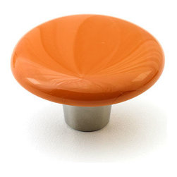 """Windborne Studios - Classic Glass Knobs and Pulls, Terracotta, 1.5"""" Circle - Classic Collection is affirmation of distinguished simplicity."""