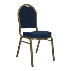 Flash Furniture - Flash Furniture Hercules Series Dome Back Banquet Chair in Blue - Flash Furniture - Stacking Chairs - FDC03ALLGOLDH203774GG - This is one tough chair that will withstand the rigors of time. with a frame that will hold in excess of 500 lbs., the Hercules Series Banquet Chair is one of the strongest banquet chairs on the market. You can make use of banquet chairs for many kinds of occasions. This banquet chair can be used in Church, Banquet Halls, Wedding Ceremonies, Training Rooms, Conference Meetings, Hotels, Conventions, Schools and any other gathering for practical seating arrangements. The banquet chair is also great for home usage from small to large gatherings. For any environment that you use a banquet chair it will put your guests at a greater comfort level with the padded seat and back. Another advantage is the stacking capability that allows you to move the chairs out of the way when not in use. with offerings of comfort and durability, you can be assured that you can enjoy this elegant stacking banquet chair for years to come. [FD-C03-ALLGOLD-H203774-GG]