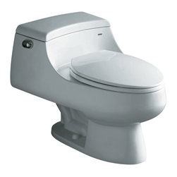 Ariel - Ariel CO1013 Royal Celeste Contemporary European Toilet 27x20x13 - Ariel cutting-edge designed one-piece toilets with powerful flushing system. It's a beautiful, modern toilet for your contemporary bathroom remodel.