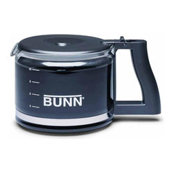 BUNN Products - 10-Cup Replacement Coffee Decanter - Capacity: 50 ounce. Made from glass. Black color. Made in USAUpgrade your Bunn home brewer with a sleek black coffee decanter.