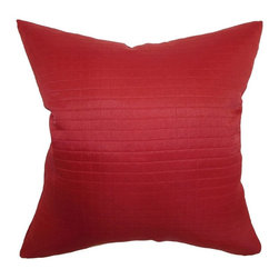 Pillow Collection Inc - The Pillow Collection Quintessa Quilted Pillow - Cherry Multicolor - P18-MVT-106 - Shop for Pillows from Hayneedle.com! Full of zest the Quintessa Quilted Pillow Cherry will add a dash of vibrancy to your contemporary home. Made of quilted bright cherry red 100% polyester fabric this pillow was made for entertaining.About The Pillow CollectionIdentical twin brothers Adam and Kyle started The Pillow Collection with a simple objective. They wanted to create an extensive selection of beautiful and affordable throw pillows. Their father is a renowned interior designer and they developed a deep appreciation of style from him. They hand select all fabrics to find the perfect cottons linens damasks and silks in a variety of colors patterns and designs. Standard features include hidden full-length zippers and luxurious high polyester fiber or down blended inserts. At The Pillow Collection they know that a throw pillow makes a room.