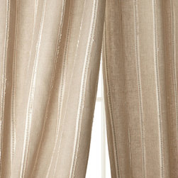 "Creative Threads - Each 108""L Radiant Striped Linen Curtain - Creative ThreadsEach 108""L Radiant Striped Linen Curtain"
