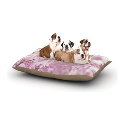 """Kess InHouse - Monika Strigel """"Endless Cherry"""" Pink Floral Fleece Dog Bed (30"""" x 40"""") - Pets deserve to be as comfortable as their humans! These dog beds not only give your pet the utmost comfort with their fleece cozy top but they match your house and decor! Kess Inhouse gives your pet some style by adding vivaciously artistic work onto their favorite place to lay, their bed! What's the best part? These are totally machine washable, just unzip the cover and throw it in the washing machine!"""
