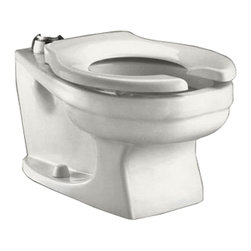 """American Standard - American Standard 2282.001.020 Baby Devoro Universal Flushometer Bowl, White - American Standard 2282.001.020 Baby Devoro Universal Flushometer Bowl, 10-1/4"""" Rim Height, White. This universal flush-o-meter toilet features a vitreous china construction, a 10-1/4"""" rim height, a 10"""" roughing-in, a siphon jet action flow, a fully-glazed trapway, a 1-1/2"""" inlet spud, and 2 color-matched bolt caps."""