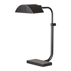 Koleman Adjustable Task Lamp - %The Koleman Adjustable Task Lamp by Robert Abbey puts a modern Lighting twist on this functional and stylish task lamp. The Koleman Adjustable Task Lamp is slim and handsomely designed with a timeless look that easily matches with most decor. The Koleman Collection signifies distinction and style, and this charming task lamp is no exception. Update your home or businesses' light fixtures today with this delightful and functional Koleman Adjustable Task Lamp.