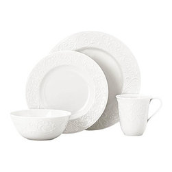 Lenox - Lenox Opal Innocence Carved 4-Piece Place Setting - Lenox Opal Innocence Carved 4-Piece Place Setting