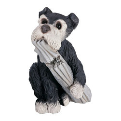 "Lamps Plus - Kids Pepper the Dog with Paper Garden Accent - With his big dark eyes he is so cute and loveable. On a porch patio or backyard he is a charming addition. Hi-tone multi-colored finish. 7"" long. 8"" wide. 12"" high.  Hi-tone multi-colored finish.  7"" long.  8"" wide.  12"" high."