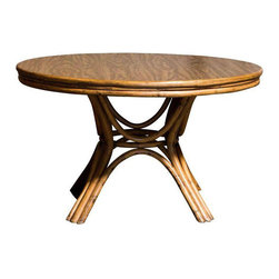 Round Bamboo Pedestal Dining Table - $1,250 Est. Retail - $425 on Chairish.com -