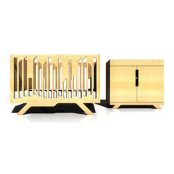 numi numi design - Wired Changing Table - This unique dresser offers generous-sized space for your baby accessories. The collection is made of highly durable NAUF (No Added Urea Formaldehyde) bamboo. The finishes are non-toxic, water-based clear finish.