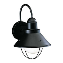 Kichler Lighting - Kichler Lighting 9022BK Seaside Lodge/Country/Rustic Outdoor Wall Light - Medium - Kichler Lighting 9022BK Seaside Lodge/Country/Rustic Outdoor Wall Light - Medium In Black (Painted)