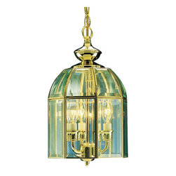 "Volume Lighting - Volume Lighting V5703 3 Light 14"" Height 1 Tier Chandelier with Clear Beveled Gl - Three Light 14"" Height 1 Tier Chandelier with Clear Beveled Glass ShadeAdorn your home d�cor this this stylish 3 light chandelier featuring dazzling clear beveled glass.Features:"
