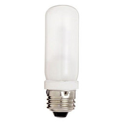 SATCO Lighting - 150W 120V T10 E26 Halogen Frosted Bulb by SATCO Lighting - This frosted decorative halogen tube-shaped light bulb from SATCO is designed for use in large contemporary pendants or large floor lamps with standard sockets. Satco, headquartered in Brentwood, NY, designs and manufactures a variety of high-quality lighting products for residential and commercial applications.