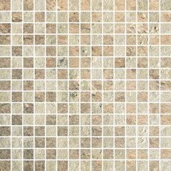 Cesare Magnus Collection Golden+Light Micro Mix Mosaic - The elegance and grandeur of the natural stones found in the imperial palaces of ancient Rome are now available again to enrich today's projects thanks to StonePeak's innovative technology.