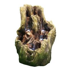 "Sunnydaze Decor - Backwoods Cascading Falls Fountain w/LED Lights by Sunnydaze Decor - * Dimensions: 17"" W x 21.5"" H x 13"" D; 14 lbs"