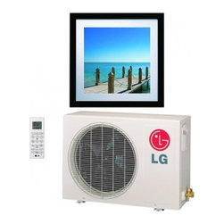 LG - Art Cool Gallery LA090HVP Mini Split Inverter Air Conditioner with 16 SEER  9 00 - LG Art Cool Gallery inverter models will appeal to today39s discerning customer You can express your own individual style while cooling or heating your living or working space Available in 9000 and 12000 BTUs the new Art Gallery mini split indoor uni...